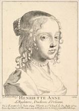 Henriette-Anne d'Angleterre, duchesse d'Orléans. Creator: Claude Mellan.
