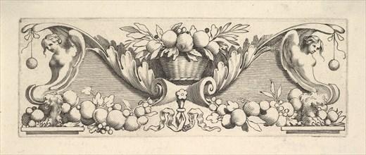 Headband: Basket of Fruit. Creator: Claude Mellan.