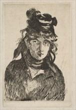 Berthe Morisot, 1872. Creator: Edouard Manet.