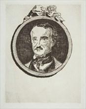 Portrait of Edgar Allan Poe, 1876. Creator: Edouard Manet.