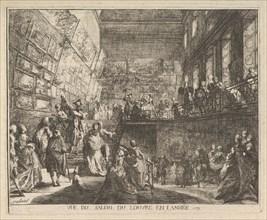 Vue du Salon du Louvre en l'année 1753, 1753. Creator: Gabriel de Saint-Aubin.