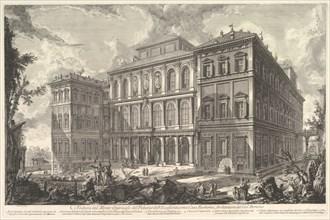 View of the palace of the illustrious Barberini family on the Quirinal Hill, desi..., ca. 1750-1759. Creator: Giovanni Battista Piranesi.