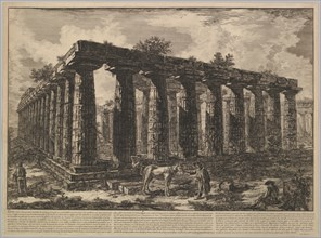 View showing the remains of a large enclosure of columns..., from Différentes vues de ..., ca. 1748. Creator: Giovanni Battista Piranesi.