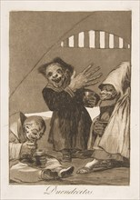 Plate 49 from 'Los Caprichos': Hobgoblins