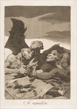 Plate 51 from 'Los Caprichos': They spruce themselves up
