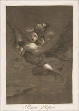 Plate 64 from 'Los Caprichos': Bon voyage
