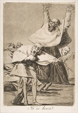 Plate 80 from 'Los Caprichos': It is time