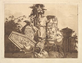 Composition with antiquities, from Recueil de Compositions par Lagrenée Le Jeune