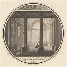 Print of the Reverse of the Portrait Medal of Fortunée-Marie d'Est, Princesse de Conti wit..., 1781. Creator: Joseph Varin.