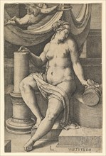 Fortitude, from the series The Seven Virtues, 1530. Creator: Lucas van Leyden.