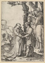 St. George Liberating the Princess, ca. 1508. Creator: Lucas van Leyden.