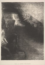 Pilgrim from a sublunar world, 1891. Creator: Odilon Redon.
