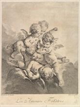 Children playing, 1750. Creator: Pierre Alexandre Aveline.