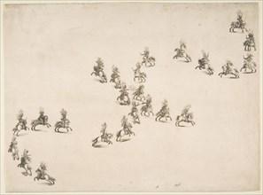 Twenty-four Cavaliers Form a Double S, 1652. Creator: Stefano della Bella.