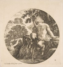 Young Satyr About to Bathe in a River, from 'Landscapes and seaports'
