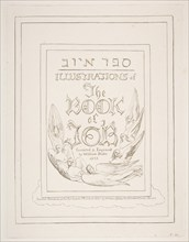 Title Page, from Illustrations of the Book of Job, 1825-26. Creator: William Blake.