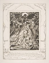The Destruction of Job's Sons, from Illustrations of the Book of Job, 1825-26. Creator: William Blake.