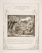 Job's Comforters, from Illustrations of the Book of Job, 1825-26. Creator: William Blake.