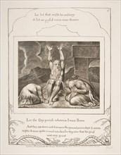 Job's Despair, from Illustrations of the Book of Job, 1825-26. Creator: William Blake.