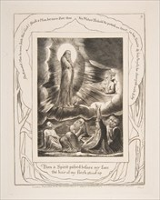 The Vision of Eliphaz, from Illustrations of the Book of Job, 1825-26. Creator: William Blake.