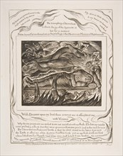 Job's Evil Dreams, from Illustrations of the Book of Job, 1825-26. Creator: William Blake.