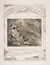 The Lord Answering Job out of the Whirlwind, from Illustrations of the Book of Job, 1825-26. Creator: William Blake.
