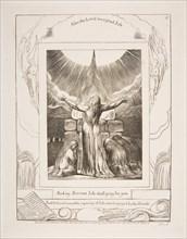 Job's Sacrifice, from Illustrations of the Book of Job, 1825-26. Creator: William Blake.