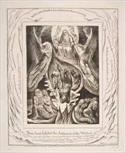The Fall of Satan, from Illustrations of the Book of Job, 1825-26. Creator: William Blake.
