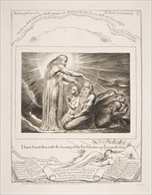 The Vision of God, from Illustrations of the Book of Job, 1825-26. Creator: William Blake.