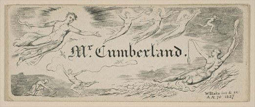 George Cumberland's Message Card, 1827. Creator: William Blake.
