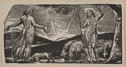 Thenot Remonstrates With Colinet, from Thornton's Pastorals of Virgil, 1821. Creator: William Blake.