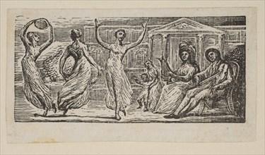 Menalcus Watching Women Dance, from Thornton's Pastorals of Virgil, 1821. Creator: William Blake.