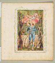 Songs of Innocence: Frontispiece, ca. 1825. Creator: William Blake.