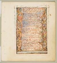 Songs of Innocence: Introduction, ca. 1825. Creator: William Blake.