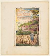 Songs of Innocence and of Experience: The Shepherd, ca. 1825. Creator: William Blake.