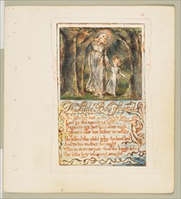 Songs of Innocence and of Experience: The Little Boy Found, ca. 1825. Creator: William Blake.