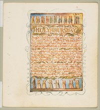 Songs of Innocence and of Experience: Holy Thursday, ca. 1815. Creator: William Blake.