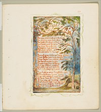 Songs of Innocence and of Experience: Night, ca. 1825. Creator: William Blake.