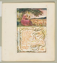 Songs of Innocence and of Experience: Spring, ca. 1825. Creator: William Blake.
