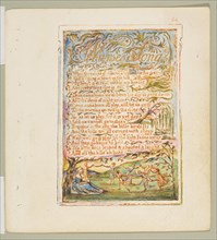 Songs of Innocence and of Experience: Nurse's Song, ca. 1825. Creator: William Blake.