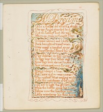 Songs of Innocence and of Experience: A Dream, ca. 1825. Creator: William Blake.
