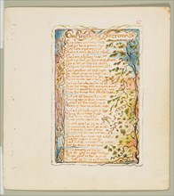 Songs of Innocence and of Experience: On Anothers Sorrow, ca. 1825. Creator: William Blake.