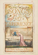 Songs of Experience: Title page, ca. 1825. Creator: William Blake.