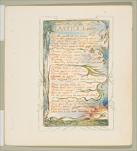 Songs of Innocence and of Experience: Earth's Answer, ca. 1825. Creator: William Blake.