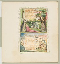 Songs of Innocence and of Experience: The Little Girl Lost/The Little Girl Found, ca. 1825. Creator: William Blake.