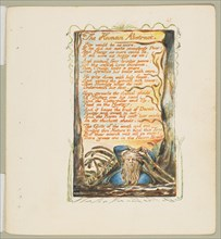 Songs of Innocence and of Experience: The Human Abstract, ca. 1825. Creator: William Blake.