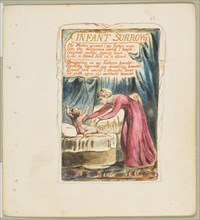 Songs of Innocence and of Experience: Infant Sorrow, ca. 1825. Creator: William Blake.