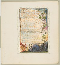 Songs of Innocence and of Experience: A Little Boy Lost, ca. 1825. Creator: William Blake.