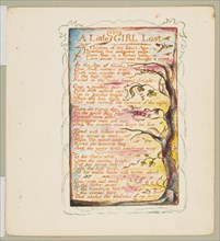 Songs of Innocence and of Experience: A Little Girl Lost, ca. 1825. Creator: William Blake.