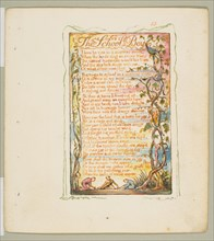 Songs of Innocence and of Experience: The School Boy, ca. 1825. Creator: William Blake.